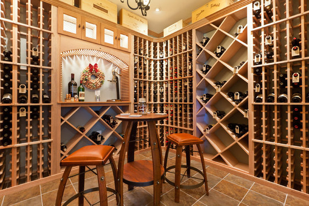 Traditional Wine Cellar by Fairhaven Homes