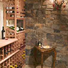 Contemporary Wine Cellar by Gabberts Design Studio