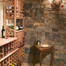 Contemporary Wine Cellar by Gabberts Design Studio