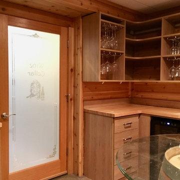 Wine Cellar, Guest Room & Master Closet
