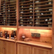 Contemporary Wine Cellar by Holt Woodworks