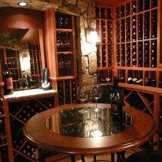 Eclectic Wine Cellar by Alexa Interiors LLC