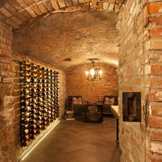 Rustic Wine Cellar by INVIEW Interior Design