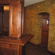 Traditional Wine Cellar by Bella Faux Finishes