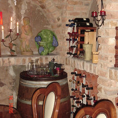 eclectic wine cellar by Karen Schaefer Louw