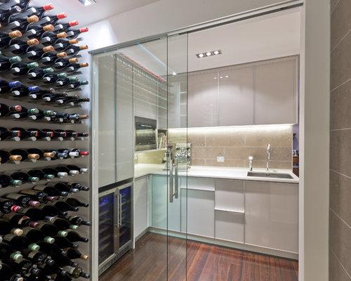Best kitchen wine rack design ideas remodel pictures houzz for Modern wine bar design