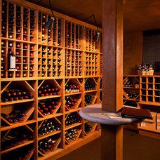 Traditional Wine Cellar by Kiyohara Moffitt
