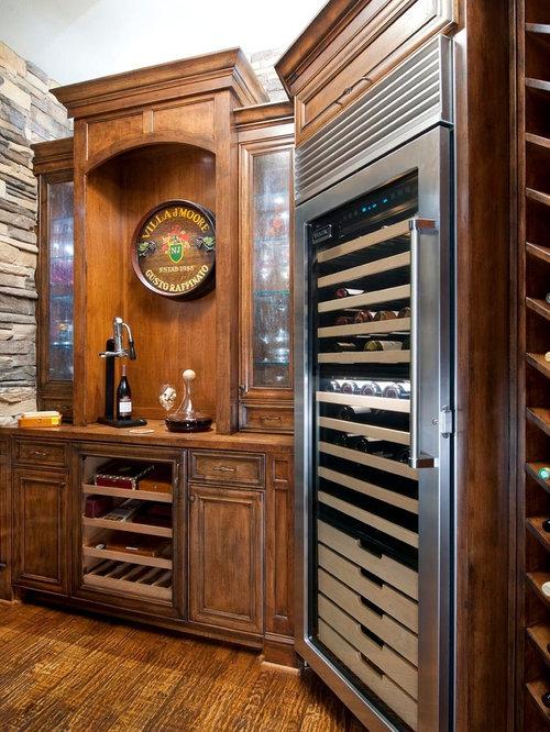 Traditional Wine Cellar Idea In Dallas With Storage Racks