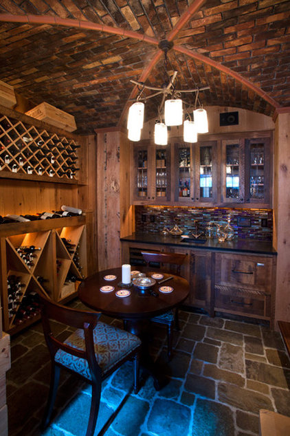 Traditional Wine Cellar by Locati Architects