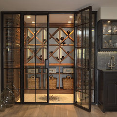 contemporary wine cellar by Mary Hickey Interiors