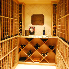 Traditional Wine Cellar by Maureen Fiori, AKBD, Allied Member ASID, CAPS
