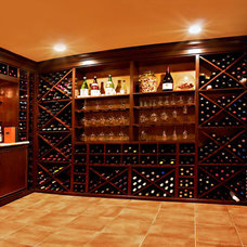 Contemporary Wine Cellar by Maureen Mahon