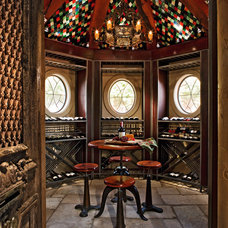 Traditional Wine Cellar by Michael Lyons Architect