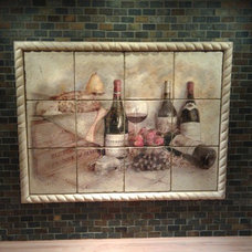 Traditional Wine Cellar by Mosaic Tile & Design