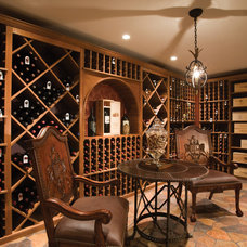 Traditional Wine Cellar by Mother Hubbard's Custom Cabinetry