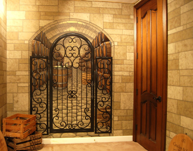 Traditional Wine Cellar by Wow Effects-Murals and Fine Art
