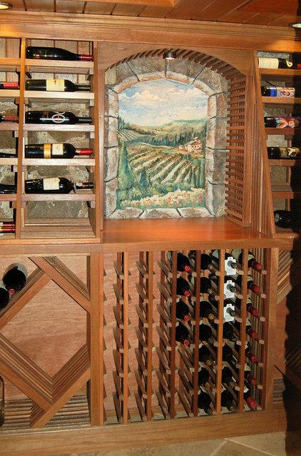 Traditional Wine Cellar by MacMurrayDesigns