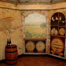 Traditional Wine Cellar by Michael J Romeo & Assoc