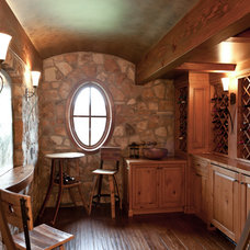 Traditional Wine Cellar by Old World Kitchens & Custom Cabinets
