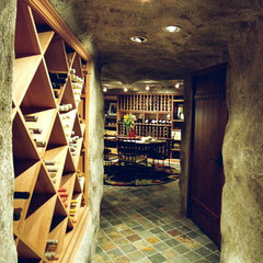 contemporary wine cellar Wine Cellar Part 1