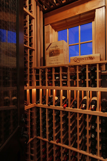 Traditional Wine Cellar by Paul Moon Design