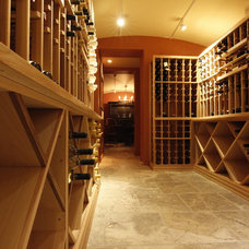 Traditional Wine Cellar by Inviniti Cellar Design