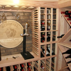 Traditional Wine Cellar by Closets For Life