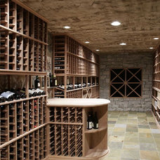 Mediterranean Wine Cellar by Dwyer Marble & Stone Supply