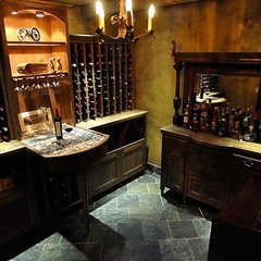 traditional wine cellar by Roloff Construction, Inc