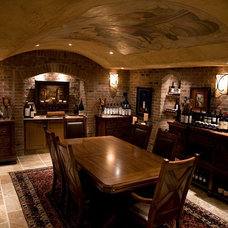Mediterranean Wine Cellar by Main Street Building Group