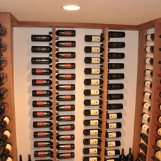 Contemporary Wine Cellar by Scandic Builders, Inc.