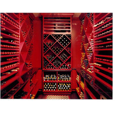 Eclectic Wine Cellar by SemelSnow Interior Design, Inc.