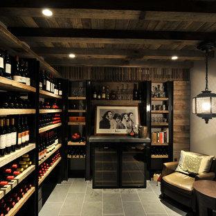 Mediterraner Weinkeller mit waagerechter Lagerung in Sydney