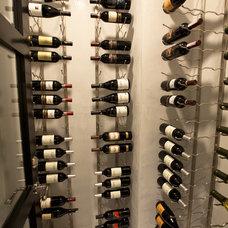 Transitional Wine Cellar by Spinnaker Development