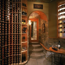 Traditional Wine Cellar by Straightline Design, Inc.