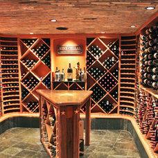 Rustic Wine Cellar by Ed McMahon Interests