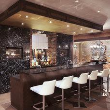 Contemporary Wine Cellar by Tavan Group