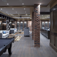 contemporary wine cellar by Tavan Developments