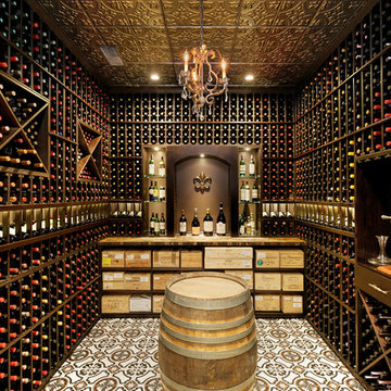 Wine Cellar with Decorative Wine Racking
