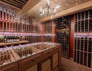 Wine Cellar with Secret Door in Villanova, PA