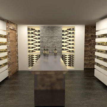 Wine cellars and wine cabinets - 3D Design