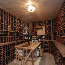 Contemporary Wine Cellar Wine Cellars - Design Inspiration from Lafayette CA Homes Staged to Sell