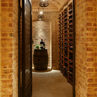 Inspiration for a mediterranean wine cellar remodel in New York