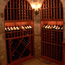 Traditional Wine Cellar by J Maness Designs