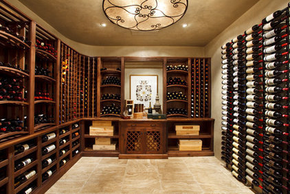 Mediterranean Wine Cellar by Logan Street Fine Wood Products