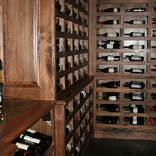 Traditional Wine Cellar by Logan Street Fine Wood Products
