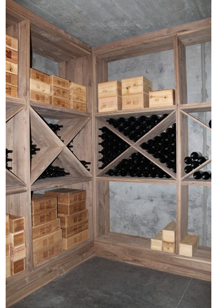 Mediterranean Wine Cellar by Logan Street Fine Wood Products