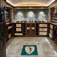 contemporary wine cellar by Stoneyard.com