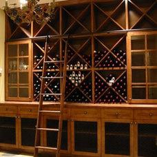 Contemporary Wine Cellar by Rollin Fox, Sleeping Grape Wine Cellars