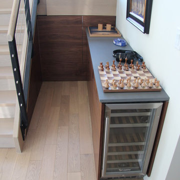 Wine cooler and under staircase storage